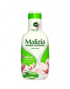 Malizia BIO Aloes i Magnolia - Płyn do kąpieli (1000 ml)